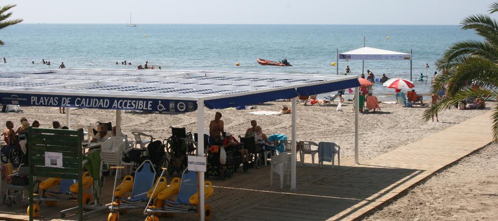 playa de levante accesible santa pola
